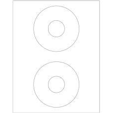 1 Pack (100 Sheets/Pack) CD Labels 4-1/2