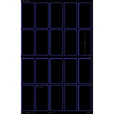 1 Carton: 100 Sheets/Carton HP Indigo Labels 60# High Gloss 2