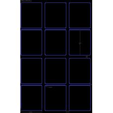 1 Carton: 100 Sheets/Carton HP Indigo Labels 60# High Gloss 3-1/3