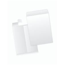 Papercone Zip Stick® Flat Envelopes 0810PL White Kraft 6 x 9 Flaps Folded, Open End, Sub 28 500/Carton