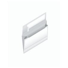 Papercone Zip Stick® Expansion Envelopes 0259PL White Kraft 10 x 12 x 2 V-Bottom, Flaps Folded, Open Side, Sub 40 250/Carton