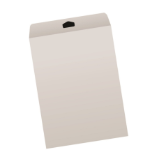 Papercone Flat Envelopes 1007PL Gray Kraft 9 x 12 Flaps Folded, Open End, Sub 28 500/Carton