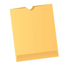 Papercone X-Ray Negative Flat Envelopes 0702PL Brown Kraft 14 ½ x 17 ½ Cut Flush Double Thumb Cut, Open End, Sub 40 250/Carton