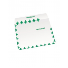 Papercone TYVEK® Zip Stick® Expansion Envelopes 1712FC 10 x12 x1½ Green First Class Border V-Bottom, Flaps Folded, Open Side, Sub 18 250/Carton