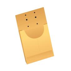 Papercone X-Ray Negative Expansion Envelopes 0701PL Brown Kraft 14 ½ x 17 ½ x 1 V-Bottom, Cut Flush Double Thumb Cut, Open End, Sub 40 250/Carton