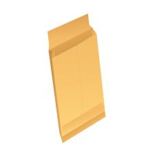 Papercone Expansion Envelopes 0136PL Brown Kraft 9 x 12 x 2 Regular Gum, V-Bottom, Flaps Extended, Open End, Sub 40 250/Carton