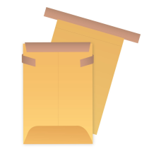 Papercone Tin-Tie Envelopes 0602PL Brown Kraft 3 x 5 Safety Fold, Open End, Sub 32 2 ½M/Carton