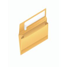 Papercone Zip Stick® Expansion Envelopes 0229PL Brown Kraft 9 x 12 x 2 V-Bottom, Flaps Folded, Open Side, Sub 40 250/Carton