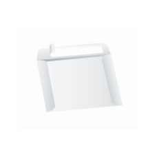 Papercone Zip Stick® Document Envelopes 0515PL White Kraft 10 x 13 Open Side Seams, Flaps Folded, Sub 40 250/Carton