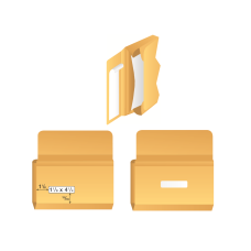 Papercone Zip Stick® Expansion Envelopes 0274PL Brown Kraft 4 3⁄8 x 9 ½ x 1½ Inside Side Seams, Clear Cello Windows w/ Inside Pockets V-Bottom, Flaps Folded, Open Side, Sub 32 250/Carton