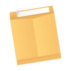 Papercone Zip Stick® Flat Envelopes 0801PL Brown Kraft 6 x 9 Flaps Folded, Open End, Sub 28 500/Carton