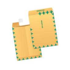 Papercone Zip Stick® Flat Envelopes 0917PL White Kraft 9 x 12 - 6 x 7 Window (6 x 9), 7 x 9 3/4 Window (9 x 12 & 10 x 13) Inside Side Seams, Flaps Folded, Open Side, Sub 28 500/Carton