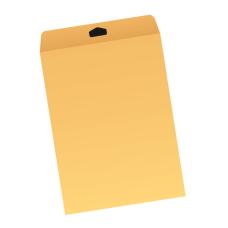 Papercone Flat Envelopes 1003PL Brown Kraft 10 x 13 Flaps Folded, Open End, Sub 28 500/Carton