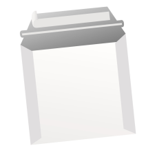 Papercone Zip Stick® Straight Jacket Board Mailers 4513L 6 x 6 18 pt Open Side Seams, Flaps Extended, 200/Carton