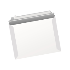Papercone Zip Stick® Straight Jacket Board Mailers 4506PL 9 ½ x 12 ½ 14 pt Open Side Seams, Flaps Extended, 250/Carton