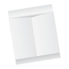 Papercone Jumbo Envelopes 0439PL White Kraft 12 ½ x 18 ½ Flaps Extended, Open End, Sub 28 250/Carton