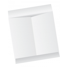 Papercone Jumbo Envelopes 0439PL White Kraft 12 ½ x 18 ½ Flaps Extended, Open End, Sub 28 250/Carton