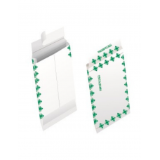 Papercone TYVEK® Zip Stick® Expansion Envelopes 1681FC 10 x 13 x 1½ Green First Class Border V-Bottom, Flaps Folded, Open End, Sub 18 100/Carton