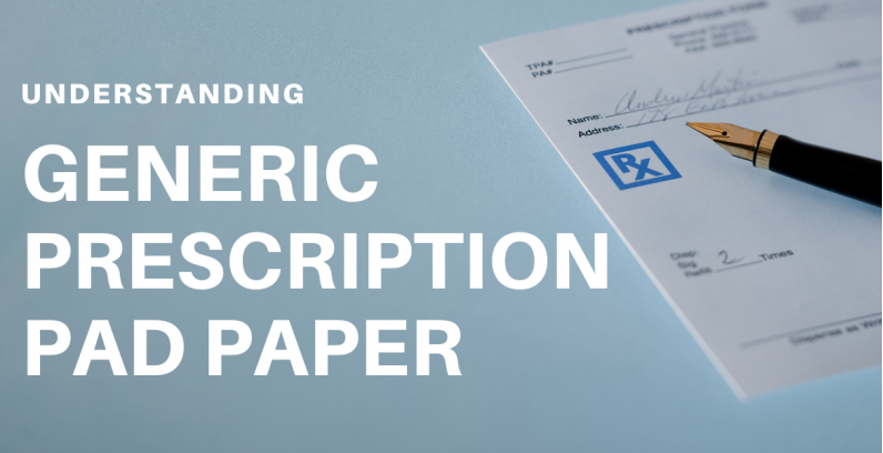 Generic Prescription Pad Paper
