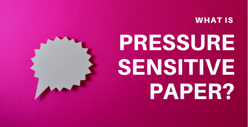 What is pressure sensitive paper?