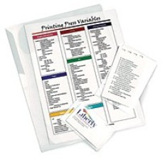 1 Pack: 100/Pack Menu 3 mil Sticky Laminate MEN3SL Laminating Pouch
