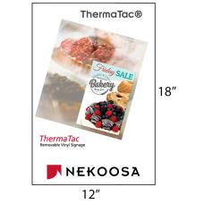 "12"" x 18"" Frost Clear ThermaTac™ Pressure Sensitive Vinyl Sheets Removable Zero Score by Nekoosa 67001 - 1 Case: 250 Sheets/Case"