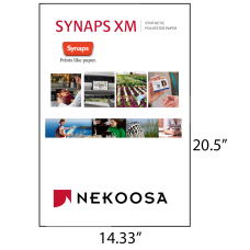 1 Case: 1200 Sheets/cs 14.33 x 20.5 Matte White 5 mil Synthetic Polyester Paper SYNAPS XM by Nekoosa 66053