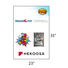 1 Case: 4 Packs - 75 Sheets/Packs MagneCote® White 23 x 35 - 13 pt Magnetized Paper for Offset Printing by Nekoosa 65007