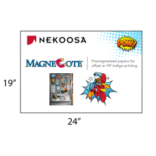 1 Case: 4 Packs - 125 Sheets/Packs MagneCote® White 24 x 19 - 17 pt Magnetized Paper for Offset Printing by Nekoosa 65008