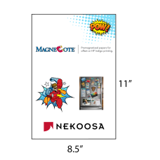 1 Case: 4 Packs - 125 Sheets/Package MagneCote® White 8.5