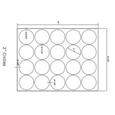 1 Pack (100 Sheets/Pack) Wausau Coated Die Cut Labels 2