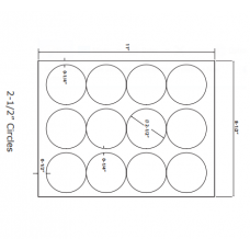 1 Pack (100 Sheets/Pack) Wausau Coated Die Cut Labels 2-1/2