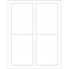 1 Pack (100 Sheets/Pack) Wausau Coated Die Cut Labels 3-1/2
