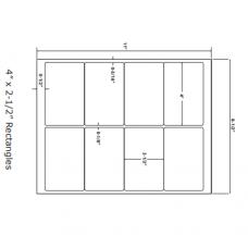 1 Pack (100 Sheets/Pack) Wausau Coated Die Cut Labels 4