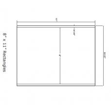 1 Pack (100 Sheets/Pack) Wausau Coated Die Cut Labels 8-1/2